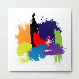 Artistic Brush Strokes Metal Print