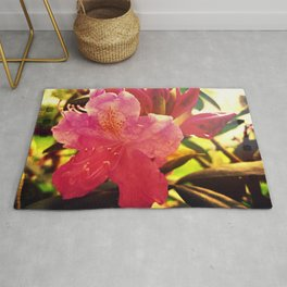 Pink Rhododendron Rug