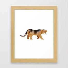 Origami Tiger Framed Art Print