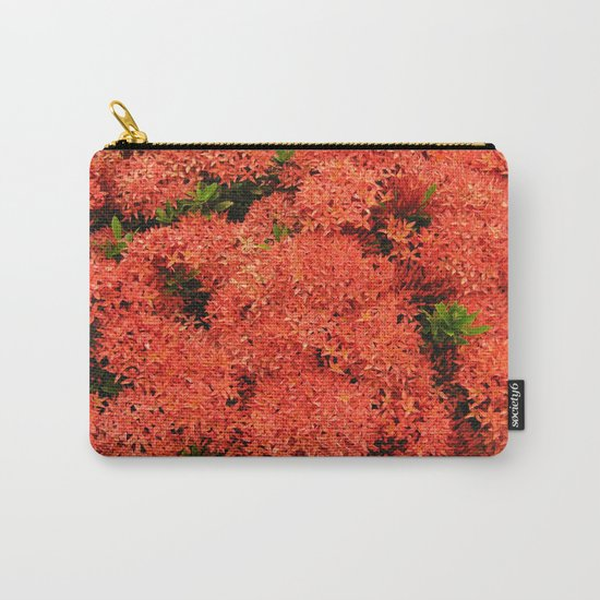 Tropical Orange Flowers Carry-All Pouch