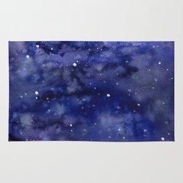 Night Sky Galaxy Nebula Stars Watercolor Space Texture Rug