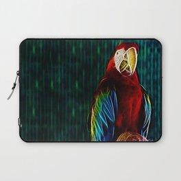 Macaw Portrait Matrix Laptop Sleeve