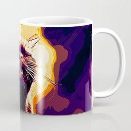 british shorthair cat ready to attack vector art late sunset Coffee Mug