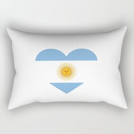 Argentina  love flag heart designs  Rectangular Pillow