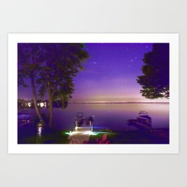 Lake Simcoe start nights Art Print