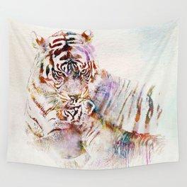 Tigress with Cub Wall Tapestry