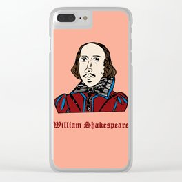William Shakespeare - hand-drawn portrait Clear iPhone Case