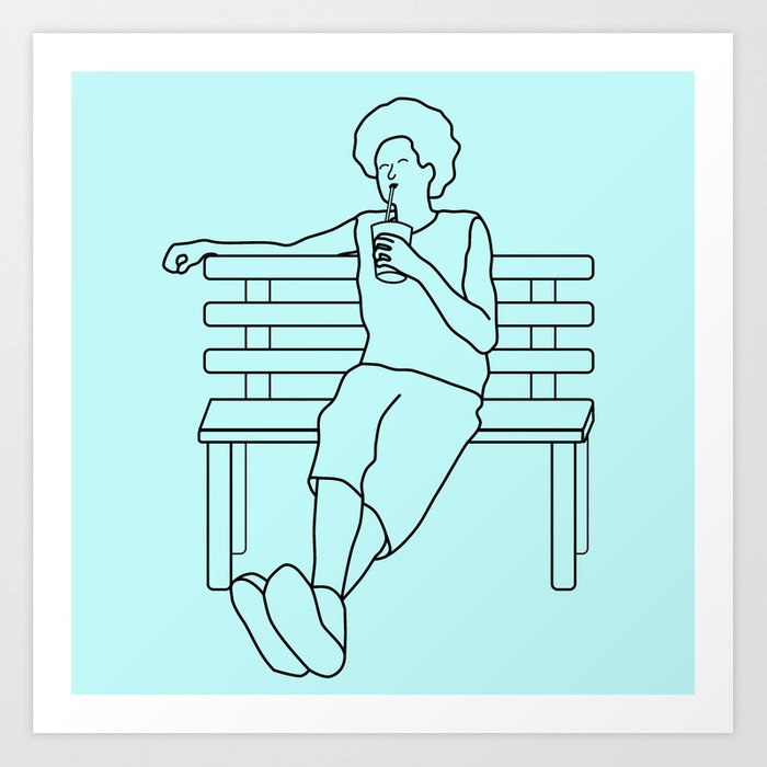 Chillax Art Print