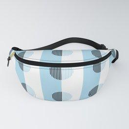 Horizons Geometric Sea Breeze Waterfall Design 9 - Turquoise Blue Fanny Pack