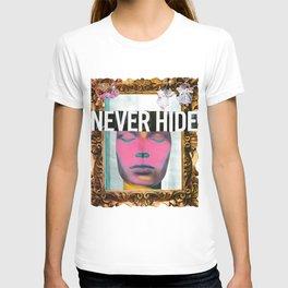 Never Hide Handmade collage T-shirt