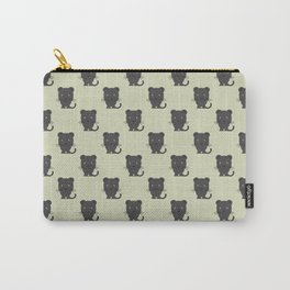 Black panther with grey background repeat pattern Carry-All Pouch