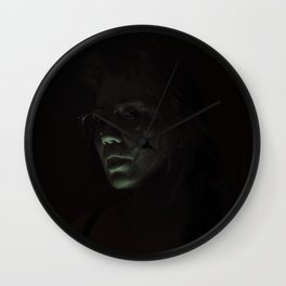 Skullflower II Wall Clock