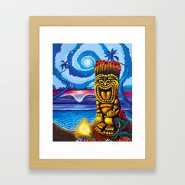 Tiki Moon Framed Art Print