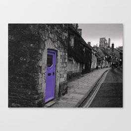Purple door Canvas Print