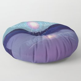Futuristic Visions 01 Floor Pillow