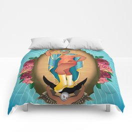 Lucha Guadalupe Comforters
