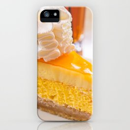 Cheesecake #food #dessert #sweets iPhone Case