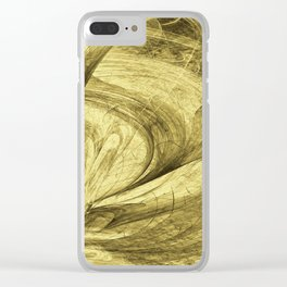 Flying threads of gold Clear iPhone Case
