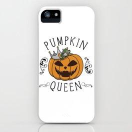 Halloween pumpkin gift costume idea quote saying iPhone Case