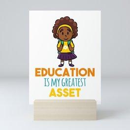 Education School knowledge Girls Mini Art Print