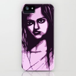 Sullen Girl iPhone Case
