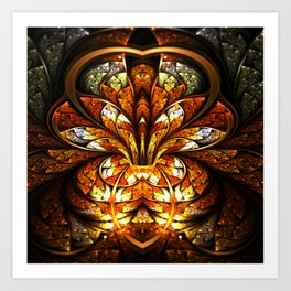 Awakening - Abstract Fractal Artwork Art Print