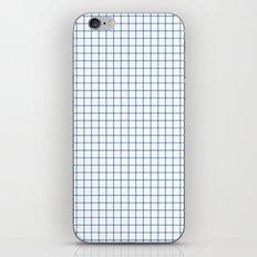 Blue on White Grid iPhone Skin