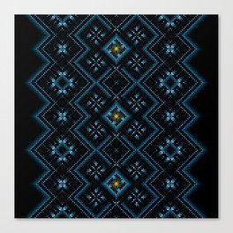 psychedelic upgrade ancient nordic embroidery Canvas Print