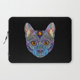 Mystic Psychedelic Cat Laptop Sleeve