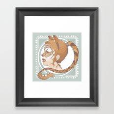 a real tiger Framed Art Print