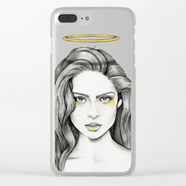 Angel Face Clear iPhone Case