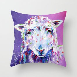 The Pink Sheep Throw Pillow