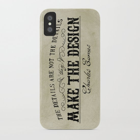 The Details are not the Details iPhone Case