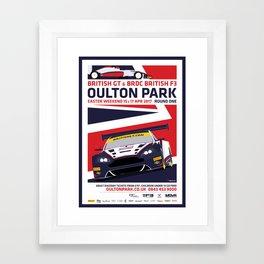 British GT and BRDC British F3, Oulton Park 2017 Framed Art Print