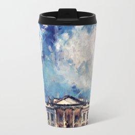 White House On A Sunny Day Travel Mug
