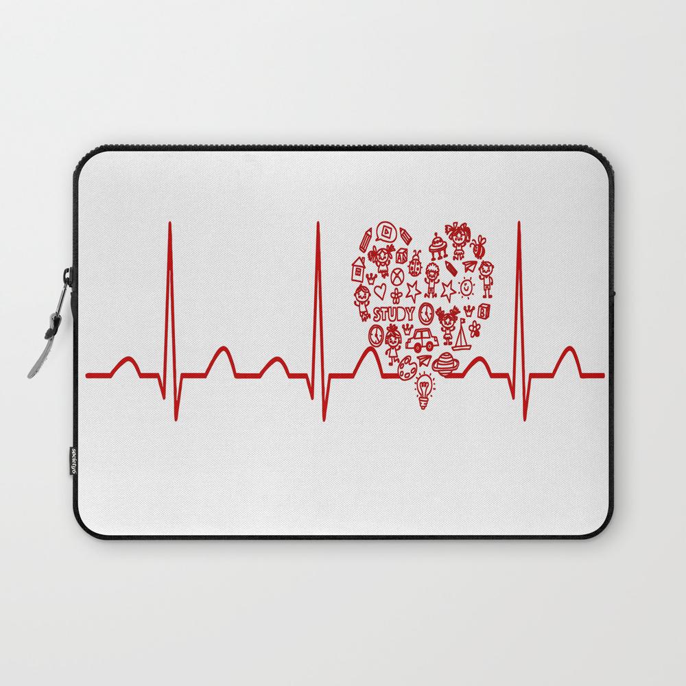 Kindergarten Teacher Heartbeat Laptop Sleeve LSV8949555