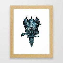 Aliens Illustration Tribute Framed Art Print