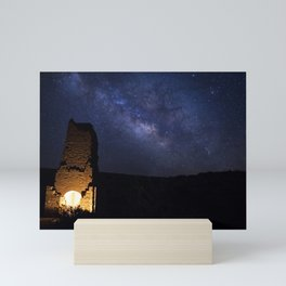 Adobe Smelter Before The Milky Way Mini Art Print