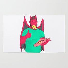 gay bear demon pizza Rug