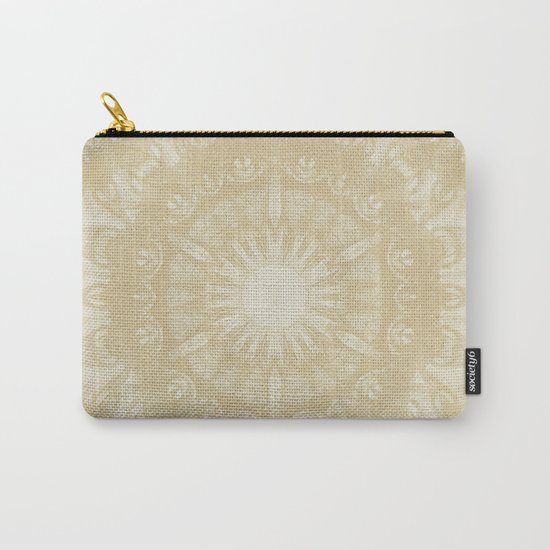 Peaceful kaleidoscope in beige Carry-All Pouch