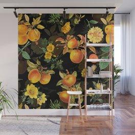 Vintage & Shabby Chic - Midnight Golden Apples Garden Wall Mural