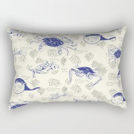 Crabbing Blues Rectangular Pillow