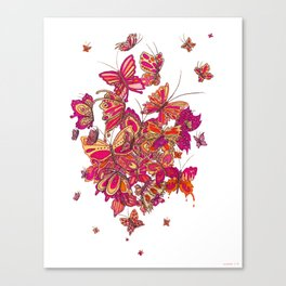 Butterfly Cluster Canvas Print