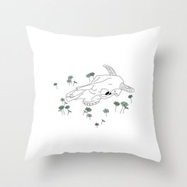 Steer 2- Clovers Throw Pillow
