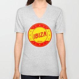 Ibiza, circle Unisex V-Neck