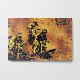 Race On - Motocross Racers Metal Print