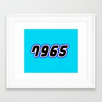millenium falcon Framed Art Prints featuring 7965 [MILLENIUM FALCON] in Brick Font Logo Design [Alternate Colors] by Chillee Wilson by Chillee Wilson [Customize My Minifig]