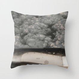 Metal and clouds Throw Pillow