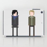 8 bit iPad Cases featuring Sherlock 8-Bit by Raquel Segal
