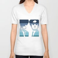 blues brothers V-neck T-shirts featuring Blues Brothers (Tribute) by Kerosene Bill